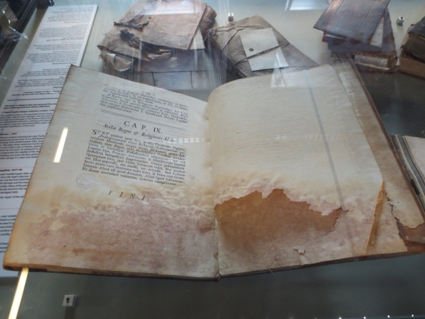 Old books on display