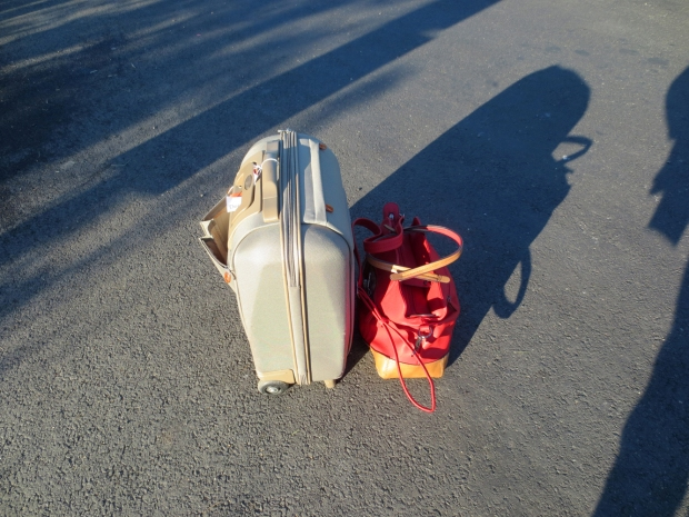 Two females in their 30s travelling light...