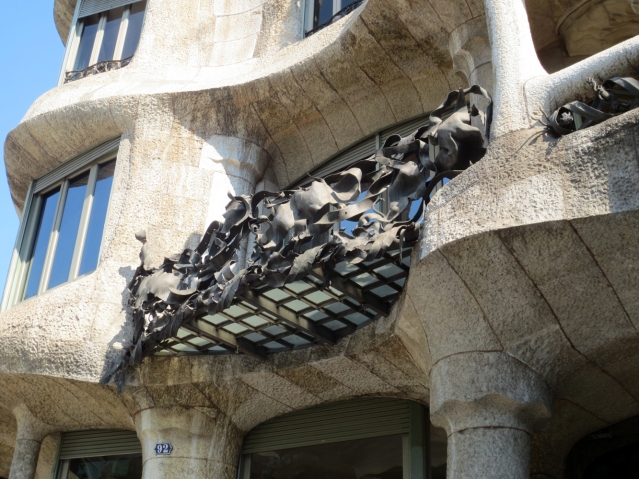 The balconies were amazing. It looked like... organic scrap metal...