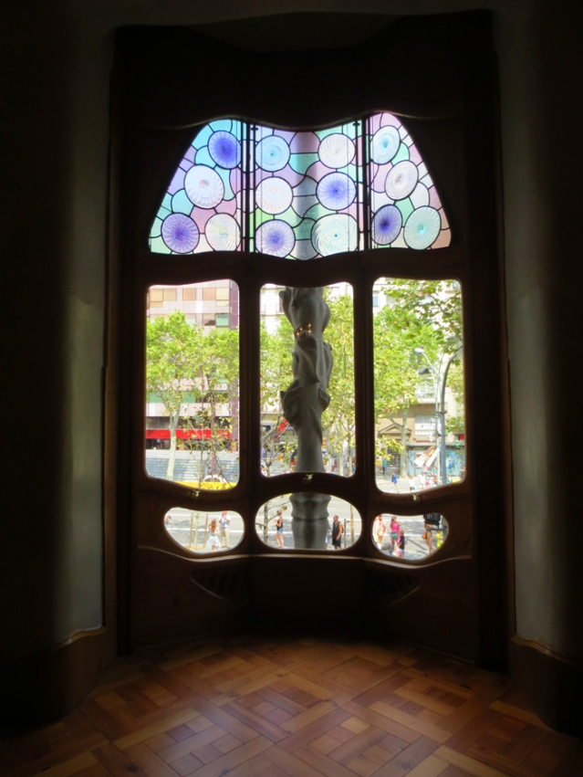 One of the smaller windows overlooking the street