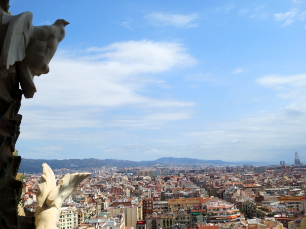 View from the top of La Sagrada Familia