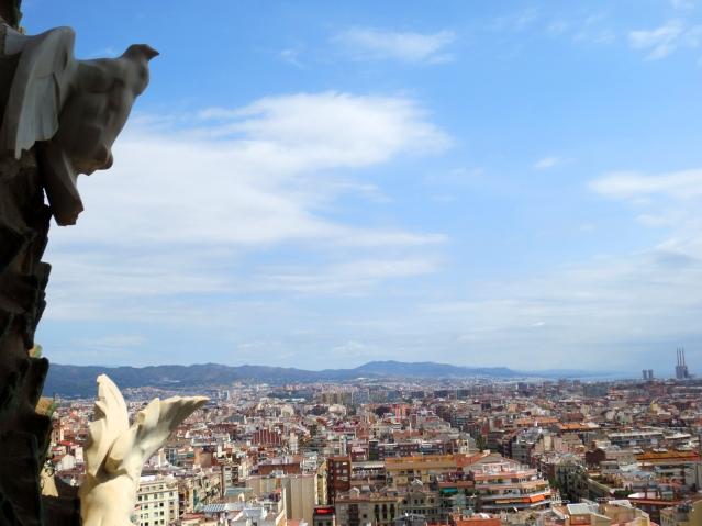 View from the top of La Sagrada Familia