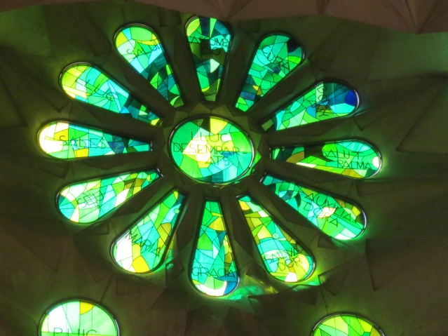 """""""The upper stained glass windows of the side naves will illustrate Jesus"""" words """"I am the way, the truth and the life"""", """"The resurrection"""", etc. """""""