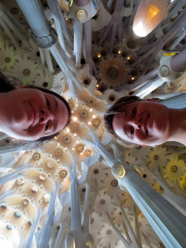 The Dynamic Duo and the stone forest ceiling...