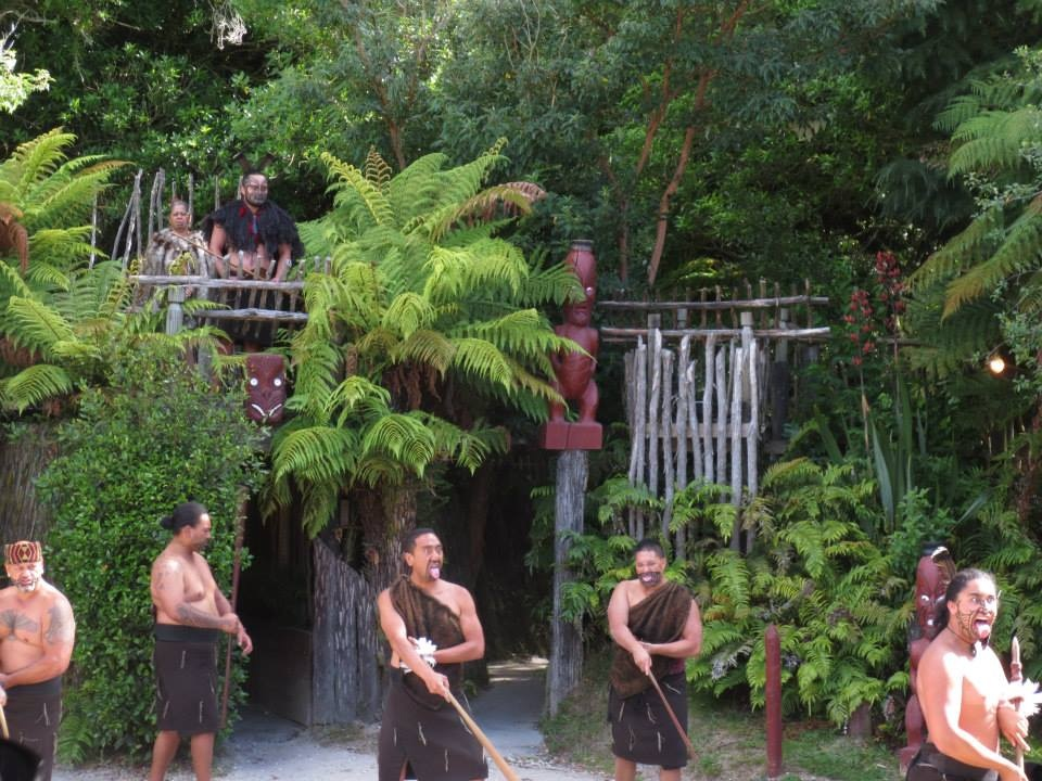 Tamaki village warriors welcoming us