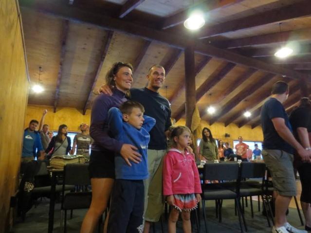 Celine and Regis with entranced kids