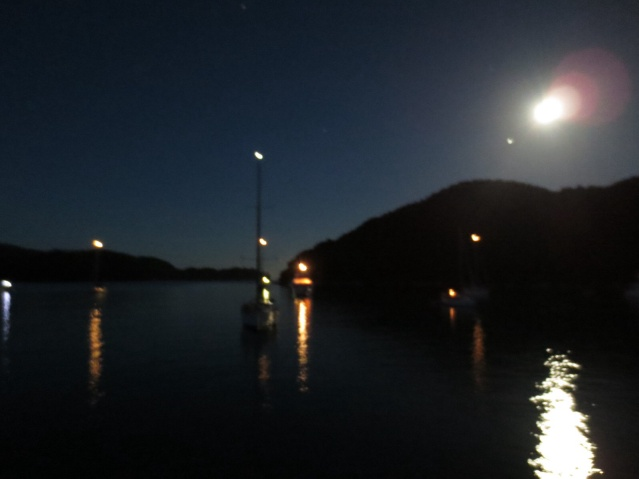 Crap photo of our awesome moonlit night