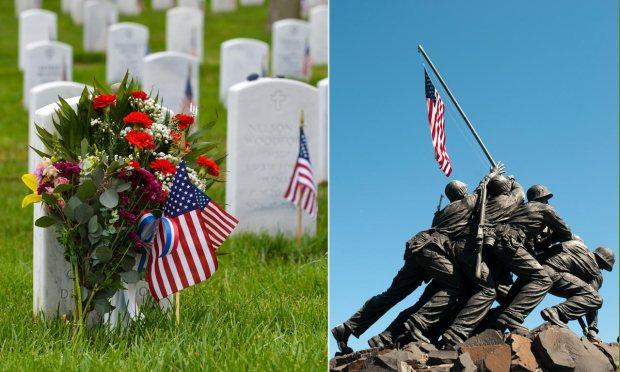 Arlington Cemetery and the Marine Corps War Memorial.