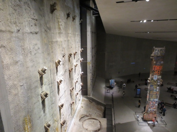 The slurry wall from beneath one of the towers