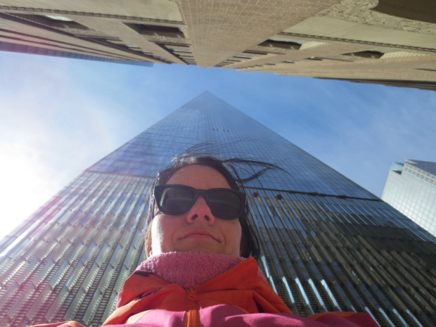 Mandatory picture of onself with a skyscraper...