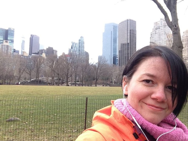 Check out me with the skyscrapers in the back, huh!