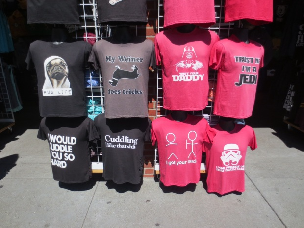 If you can't find a t-shirt in SF, your demands are unrealistic.