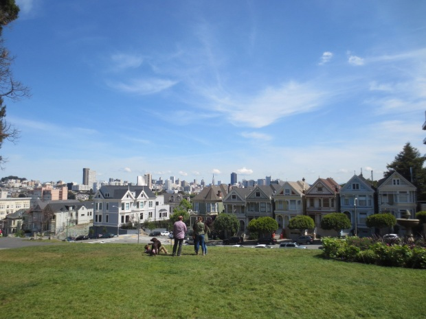 View of SF from Alamo Square park