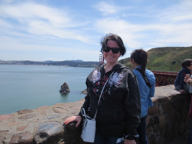 "What happens when you get a random (but dying to be helpful) Asian tourist to take a picture of ""you and the Golden Gate Bridge"""