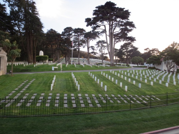 On of SF's two cemeteries, reminded me of Arlington