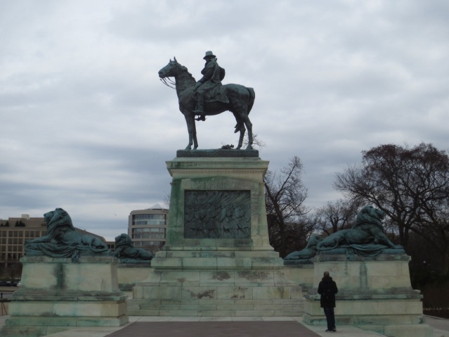 The statue commemorating Ulysses S. Grant