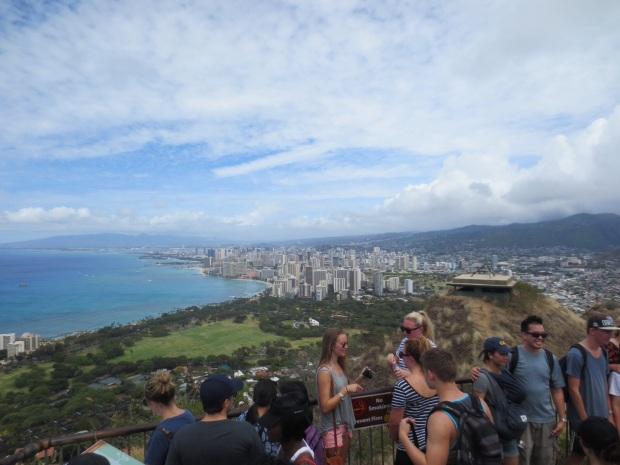 Waikiki below