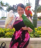 And when I got back to Waikiki, changed in to my summer dress, walked out... And this happened...