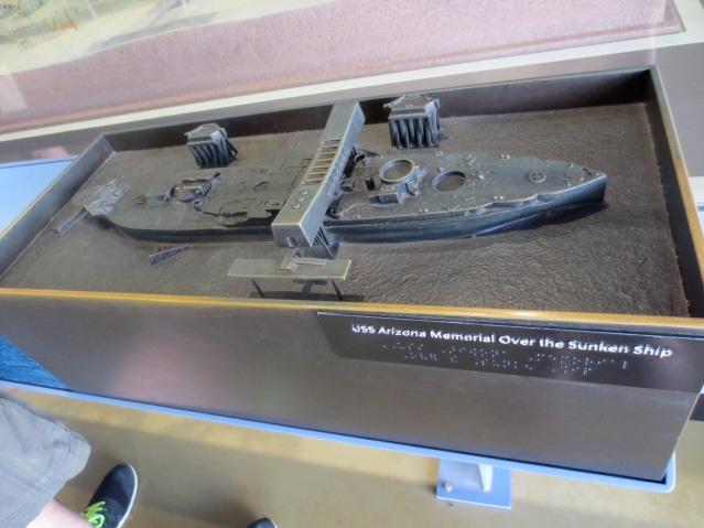 Mock up of the memorial of USS Arizona