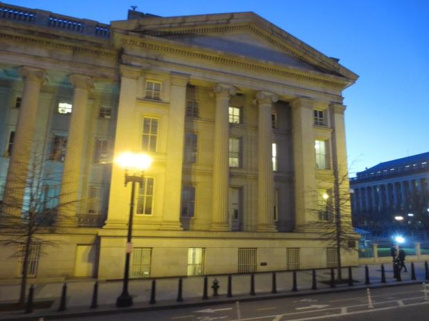 The US Treasury Building