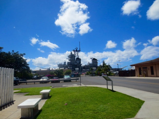 The USS Missouri out there