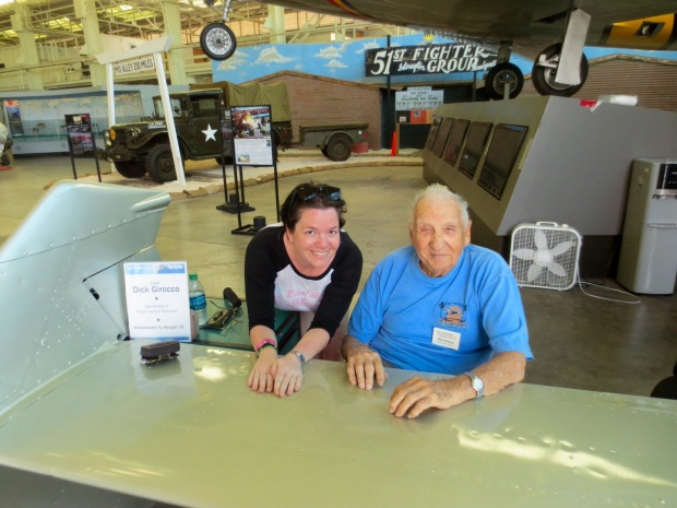 Me with Dick Girocco, a Pearl harbour survivor.