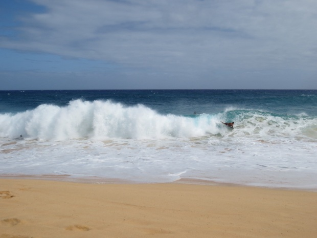 The waves -where- kinda huge...