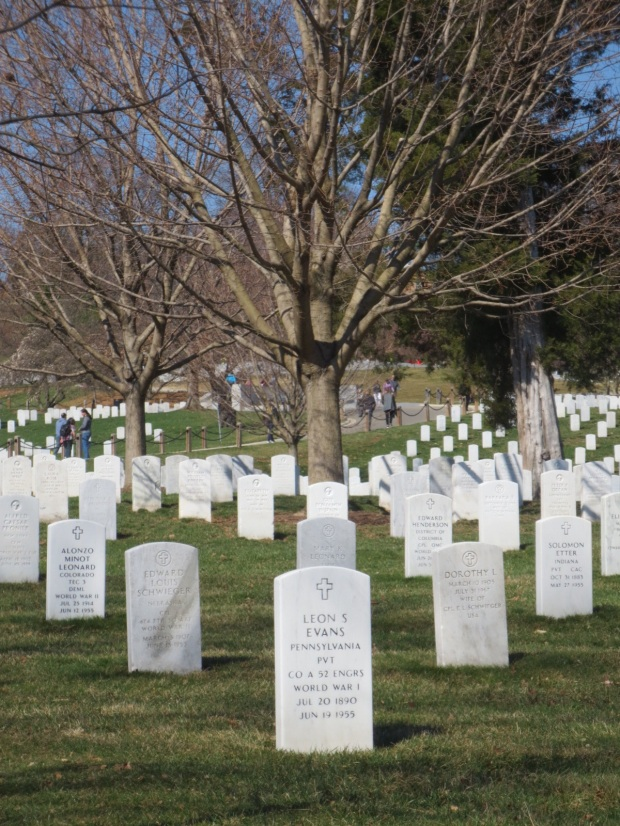 Arlington graves all have uniform headstones since the 1930s. It is believed his cemetery wil be full by 2025.