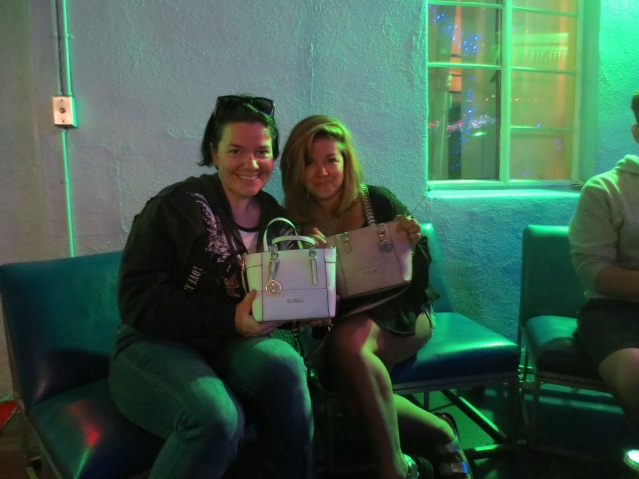 Me and Paula (Argentina) - We bought the same purse (before we met)...