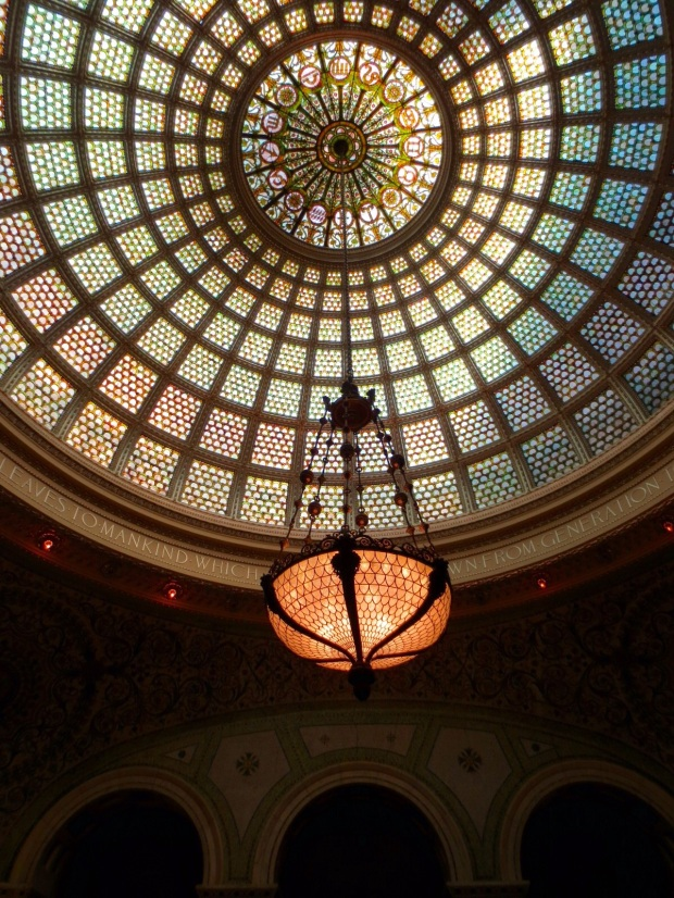 The Cultural Center . The largest Tiffany Glass Dome in the world