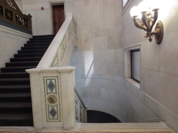 The Cultural Center and its marble stairs