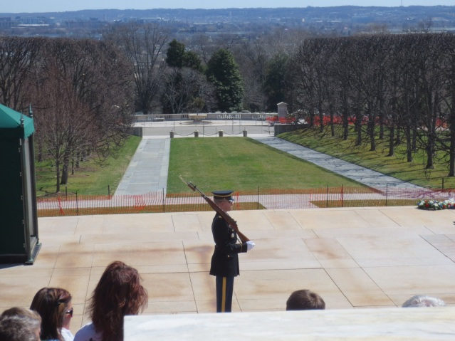 Guarding the graves of the Unknown Soldiers