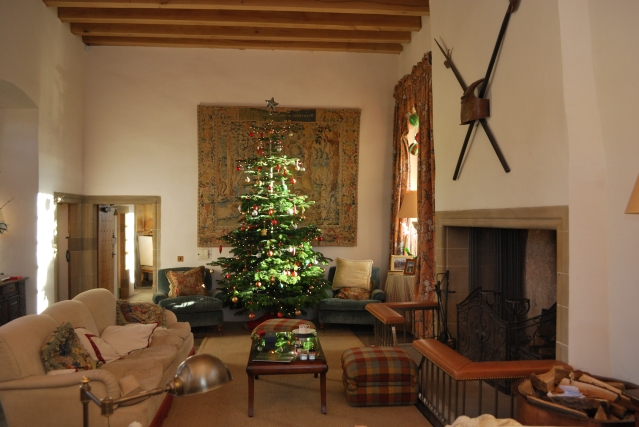The Great Hall with the fantastic Christmas tree
