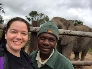 Elephant handler Colin