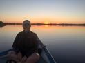 Okavango Delta sunset on the boat <3