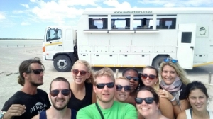 Almost he whole gang in the Etosha Salt Pans