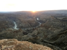 Sunset in Fish River Canyon
