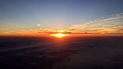 Rewarded by a lovely sunset.
