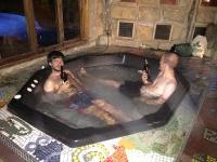 Matt an Florian enjoying life