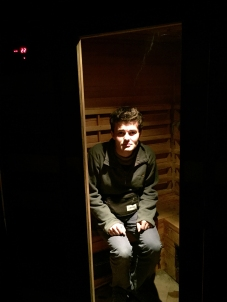 Nathanael in the sauna ;-D