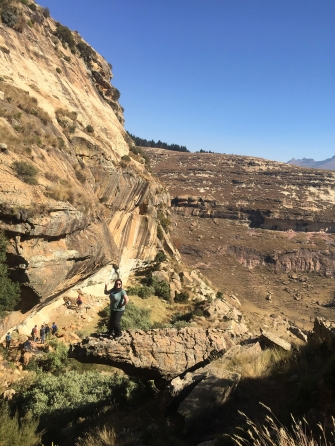 Lesotho version of Trolltunga (I'm not eve the person to spot this, it was Yadzec)