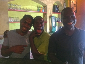 Massa, some dude and Emmanuel