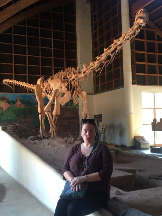 ...and Claire captured this marvellous picture of me with a cast of the Malawisaurus<3