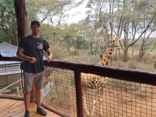Mike at Giraffe Centre Nairobi