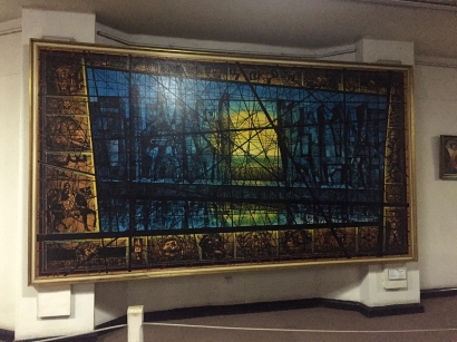 The same guy who made some of the stained glass windows in the Holy Trinity Cathedral painted this