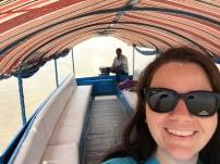 On the boat like BROOM BROOOM!