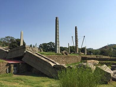 Huge obelisk and smaller obelisks