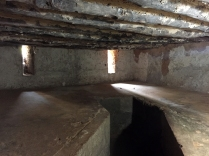 Where the slaves were kept before being sold off