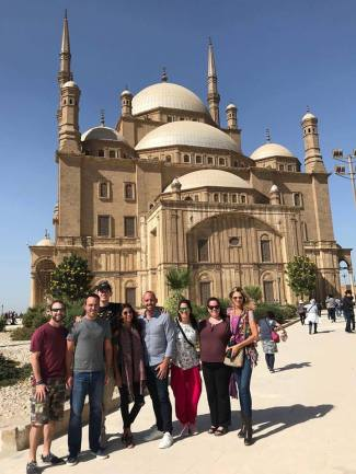 The alabaster mosque in Cairo