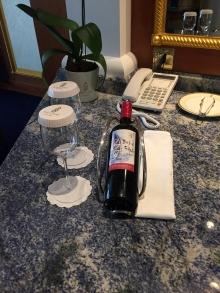 Complimetary wine